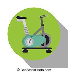 gép, fonás, bicikli, elszigetelt, ikon