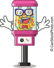 gép, geek, árul, karikatúra, cukorka