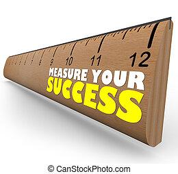 gól, vonalzó, áttekint, kivet, növekedés, felbecsül, előrehalad, -e