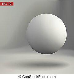 gömb, vektor, ábra, 3