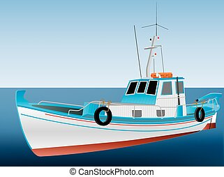 görög, halászhajó