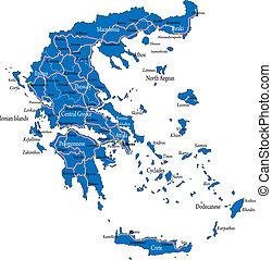 görögország, térkép