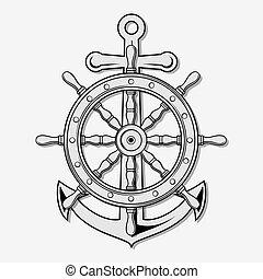 gördít, anchor., hajó