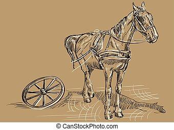 gördít, barna ló