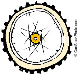 gördít, bicikli, -, vektor