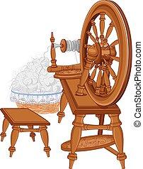 gördít, fonás, öreg, szék