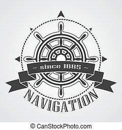 gördít, hajó, transzparens, kormányzó