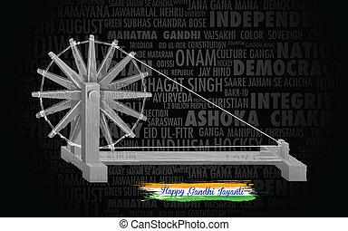 gördít, jayanti, india, fonás, gandhi, háttér