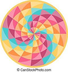 gördít, motívum, elvont, szerencse, geometriai
