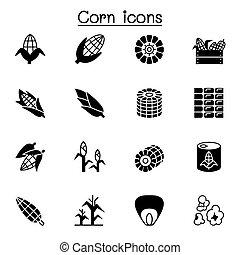 gabonaszem, ábra, tervezés, grafikus, ikon, állhatatos, vektor