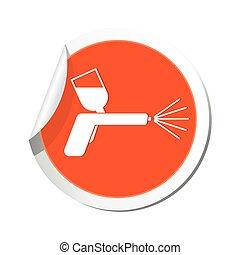 gally, icon., ábra, pisztoly, vektor