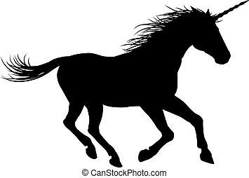 galoppozó, egyszarvú, ló