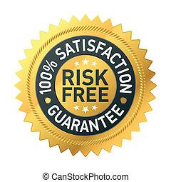 garantál, risk-free, címke