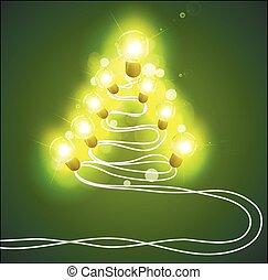 garlands, fa, karácsony