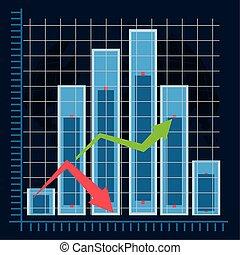 gazdasági, diagram, felépülés