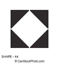 geometriai, egyszerű, alakít