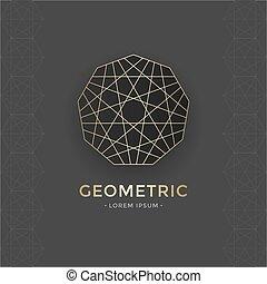 geometriai, jelkép, szent
