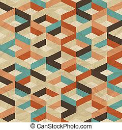 geometriai, pattern., seamless, retro