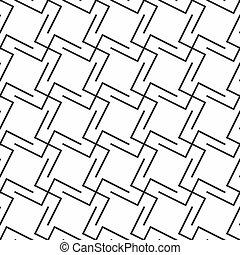 geometriai, seamless, díszítés, elvont
