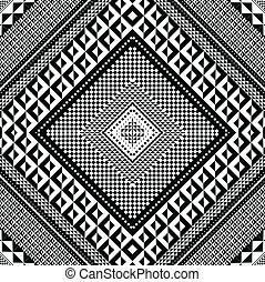 geometriai, vektor, pattern., ábra