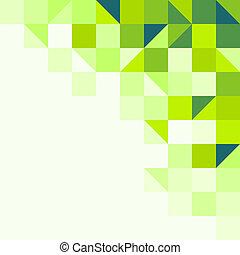 geometriai, zöld háttér