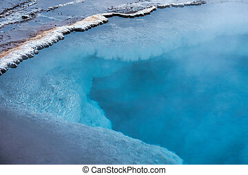 geothermal, izland, sáv, geysir