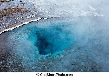 geothermal, sáv, geysir, izland