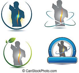 gerinc, jelkép, egészséges