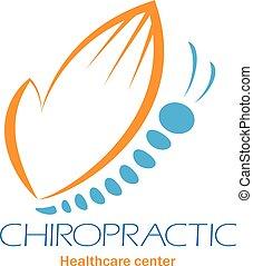 gerinc kezelése, jelkép, spine., klinika, jel, kéz, lepke