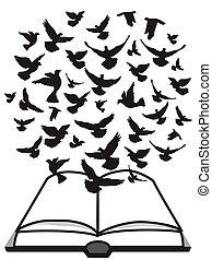 gerle, repülés, felül, biblia