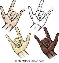 gesztus, egység, csápok