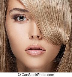 girl., hair., szőke, egészséges, hosszú, gyönyörű