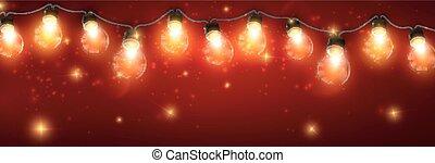 girland, elektromos, fénylő