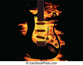 gitár, égető