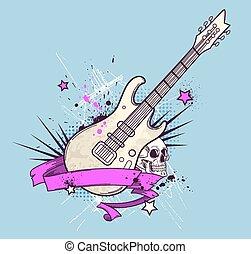 gitár, elektromos, háttér