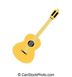 gitár, fehér, zenés, háttér