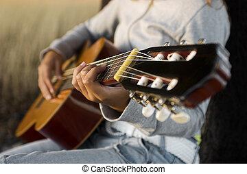 gitár játék
