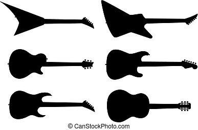 gitár, körvonal