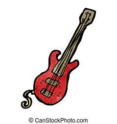 gitár, karikatúra, elektromos