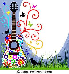 gitár, kaszáló