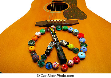 gitár, pohár, jelkép, béke, célgömb