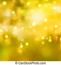 glittery, 10, eps, sárga, háttér., karácsony