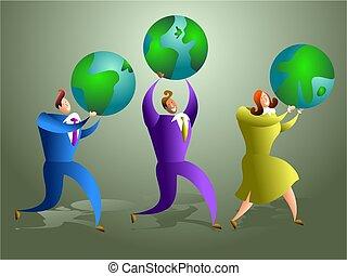 globális, befog