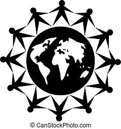 globális, emberek