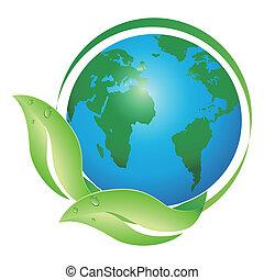 globális, levél növényen