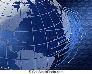 globális, tervezés, telecommunications, háttér