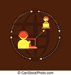 globally, dsign, kapcsolat, társadalmi