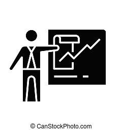 glyph, ábra, fogalom, napirend, ikon, vektor, cégtábla., lakás, fekete, gyűlés, jelkép