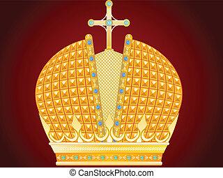 gold lombkorona, királyi