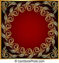 gold(en), motívum, keret, háttér